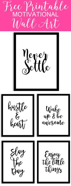 Free Printable Wall Art from Chicfetti - perfect for your office of a gallery wall
