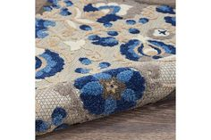Nourison Aloha 10' Runner Blue Patio Area Rug | Ashley Furniture HomeStore Outdoor Runner Rug, Indoor Outdoor Area Rugs, Rug Runner, Blue Patio, Coastal Area Rugs, Summer Shades, Plush Pattern, Shades Of Gold, Round Area Rugs