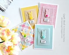 A set of Easter cards - Simon Says Stamp March Card Kit!