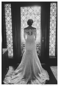 The back of this dress... gaaah! via Michigan Wedding Photographers, Silver Thumb Photography, silverthumbphoto.com, Colony Club, Cathedral of the Most Blessed Sacrament, Detroit Wedding Photographer,