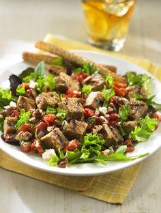 Burger Salad with Tomato Tapenade #vegetarian