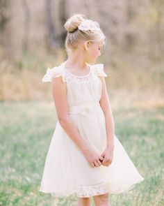 ivory Flower Girl Wedding Dressivory Lace Dress door AmazinGems