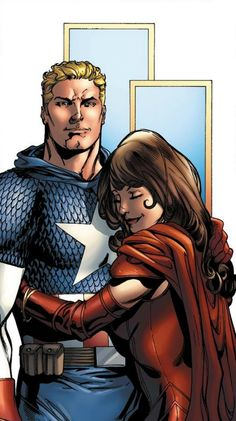 Captain America with Scarlet Witch