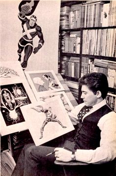 """seanhowe:    """"The teenager Jim Steranko began stealing an arsenal's worth of guns and a small parking lot's worth of motor vehicles. In February 1956, Steranko and a partner were arrested for the thefts, committed throughout eastern Pennsylvania, of twenty-five cars and two trucks. (He was careful to avoid criminal activity in his hometown. 'None of the things we did were done in Reading, maybe one or two. I stole a submachine gun in Reading, but that was all.')"""""""