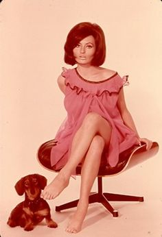Bruno of Hollywood photo, circa of Hedy Bader with a dachshund. Win your own Dames & Dogs photo here! Sixties Fashion, Vintage Fashion Photography, Classic Actresses, Dachshund Love, Weird Fashion, Vintage Lingerie, Pin Up Girls, Portrait, Retro Vintage