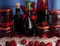 Σπιτική βυσσινάδα και βύσσινο γλυκό με στέβια Cookbook Recipes, Cooking Recipes, Hot Sauce Bottles, Stevia, Jar, Sweets, Fruit, Healthy, Desserts