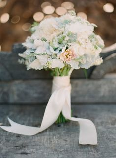 #Blush #Mint #Bouquet   See the wedding on SMP - http://www.StyleMePretty.com/2014/01/09/bohemian-inspired-california-wedding-at-holly-farm/ Lexia Frank Photography