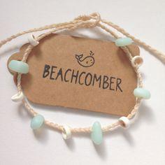 plage de bracelet de cheville, bijoux de verre de mer cultivées, shell bijoux, bracelet de cheville Bohème plage, accessoire de beachcomber