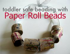 Toilet paper roll beads