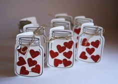 Little Gift Tags - mason jar filled with hearts - tutorial - bjl
