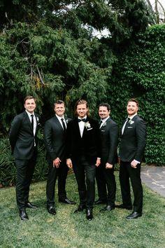 mens wedding suits for summer Black Tie Wedding Attire, Groomsmen Attire Black, Wedding Tux, Bridesmaids And Groomsmen, Black Suit Groom, Black Tie Suit, Groomsman Attire, Black Tie Tuxedo, Wedding Dress