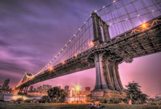 Manhattan Bridge at Dusk - 30 Incredible HDR Photos of New York City