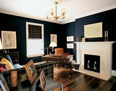 33 Stylish And Dramatic Masculine Home Office Design Ideas | DigsDigs