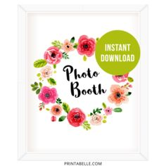 Watercolor floral Photo Booth