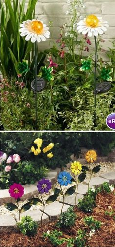 Daisy Garden Stakes - Yard Stakes