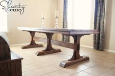 This Farmhouse style table only costs $65 to make...