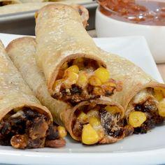 Corn and Black Bean Taquitos {Sweet Pea's Kitchen}