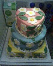First cake i sold, a spring flower cake.