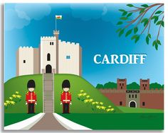 Cardiff, Wales wall art comes in an array of finishes, materials, and sizes, this retro inspired wall art will make Cardiff feel close to your heart with its bright color palette and unique design. Yo