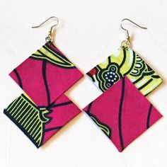 W. Africa-Handmade-Fabric earrings-Authentic African