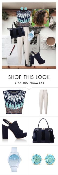 """Working Girl #3"" by pandalover435 ❤ liked on Polyvore featuring BCBGMAXAZRIA, MaxMara, Gianvito Rossi, MKF Collection, Lacoste and Ippolita"