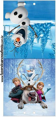 Frozen: Etiquetas para Candy Bar, para Imprimir Gratis.