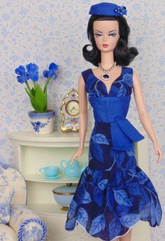 Midnight Blues for Silkstone Barbies by HankieChic on Etsy
