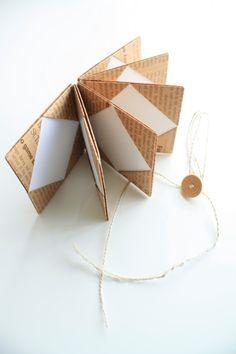 Origami mini book-- use sentimental paper