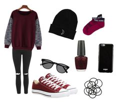 """""""Untitled #68"""" by delaneynene on Polyvore featuring Topshop, Converse, Givenchy, Monki, OPI, women's clothing, women, female, woman and misses"""