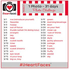 March Spring Photo Challenge with I Heart Faces | Photography