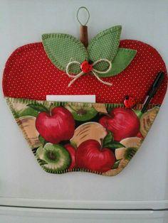 Porta recado maçã