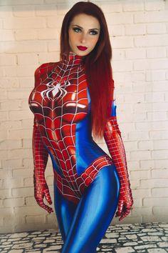 Jill Grayson / MJ spider-girl by JillGrayson on DeviantArt Marvel Cosplay Girls, Superhero Cosplay, Marvel Girls, Comics Girls, Cosplay Outfits, Sexy Outfits, Cosplay Costumes, Super Heroine, Costume Sexy