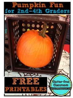 FREEBIE: Pumpkin Activities for Bigger Kids {Math and Writing} - Even if you're not allowed to celebrate Halloween, this is a great activity! Over ten pages of awesomeness to celebrate the holiday, or just to celebrate pumpkins in general!