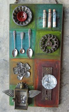 found objects art by kathy mcelroy