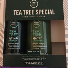 Paul Mitchell tea trea oil shampoo and conditioner Very invigorating scent will fill the shower with a fresh pepperminty smell leaves scalp tingly and invigorated !! Never opened'n Paul mitchell Other