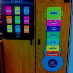 iPad for classroom jobs.. Guitar behavior chart!!! I'm loving how my room is coming!!!