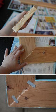 how to build a DIY wood frame for photos andprintables - itsalwaysautumn - it's always autumn