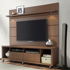 Manhattan Comfort Cabrini TV Stand and Panel The Cabrini TV Stand and Cabrini Panel combined create a complete Home Theater Entertainment Center! Easily maneuver the Cabrini TV Stand into plac Tv Cabinet Design, Tv Unit Design, Tv Wall Design, Tv Stand And Panel, Tv Panel, Tv Stand With Mount, Tv Stands, Night Stands, Tv Wanddekor