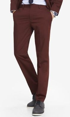 COTTON SATEEN PHOTOGRAPHER SUIT PANT from EXPRESS