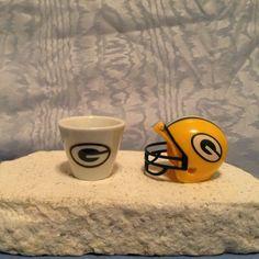 NFL MINIATURE Green Bay Packers - 2007 PORCELAIN CUP & 2010 HELMET NFL TEAM Set #GreenBayPackers