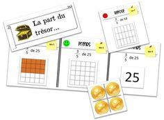 Je vous propose ici un petit jeu sur les fractions. Ce jeu se nomme la part du trésor. Dans ce jeu, les élèves vont devoir prendre une fraction d'un nombre donné. Le but de ce jeu est d&rsquo…
