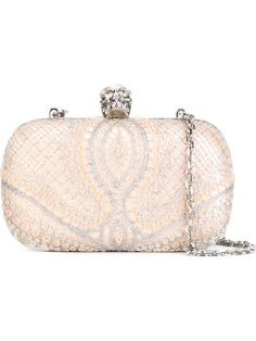 Shop Alexander McQueen 'Skull' box clutch in Vitkac from the world's best independent boutiques at farfetch.com. Shop 300 boutiques at one address.