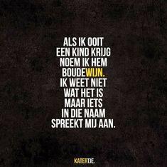 Als ik ooit een kind krijg noem ik hem Boudewijn Dutch Quotes, Rebel, Humor, Feelings, Sayings, Kind, Qoutes, Movie Posters, Quotations