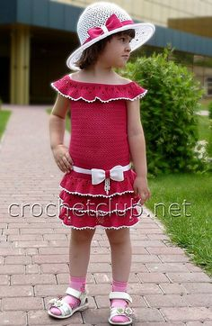 Cute!! plus several other diagrams for little dresses!