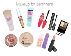 Makeup for beginners by littleartist345 on Polyvore featuring polyvore, Schönheit, Rimmel, Maybelline and COVERGIRL