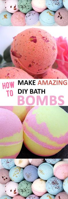 How to make homemade bath bombs.