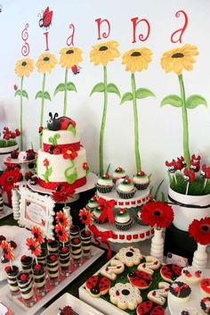 Ladybug 2nd Birthday Party | CatchMyParty.com