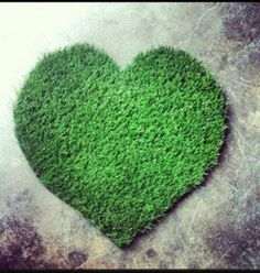 Synthetic Grass Heart Rug by agokc on Etsy, $30.00. Who wouldn't want this adorable rug in their yard?