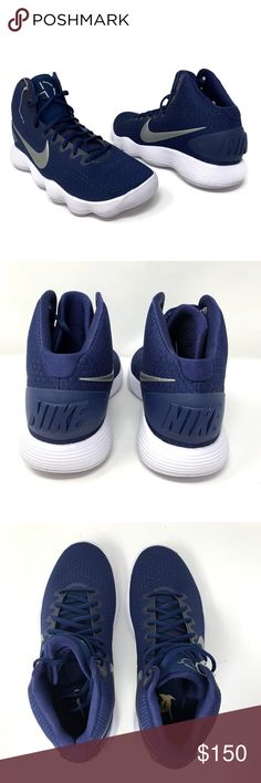 new style 4ebff adf63 Nike Hyperdunk 2017 TB Men s Basketball Shoes NIKE Nike Hyperdunk 2017  Men s Basketball Shoes Size 12 Navy   Silver Lace up Mid Top New without  box Nike ...