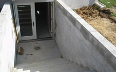 Concrete walkout basement - angle 2